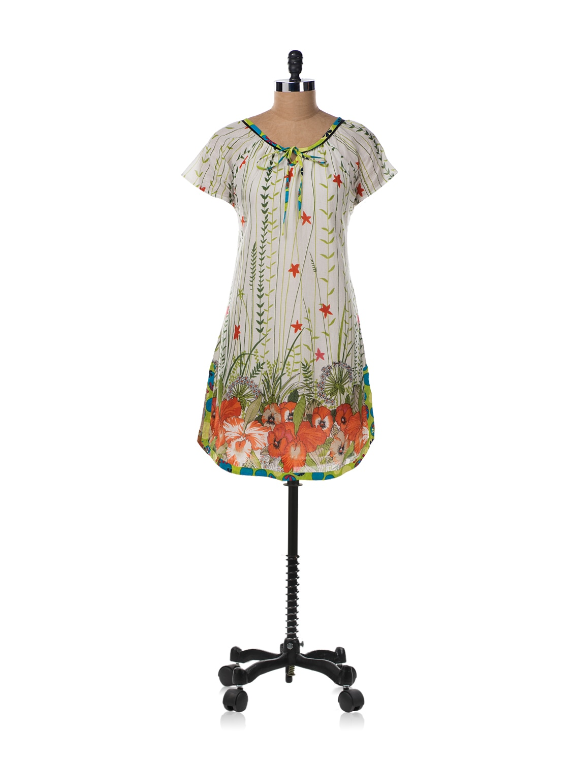 Ivory Knot Tunic In Cotton - Tops And Tunics
