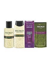 Trichup Dry And Damaged Repair Kit (Healthy Long & Strong Oil (200ml), Healthy Long & Strong Shampoo (200ml), Henna (100g), Hair - By