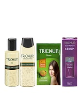 Trichup Dry and Damaged Repair Kit (Healthy Long & Strong Oil (200ml), Healthy Long & Strong Shampoo (200ml), Henna (100g), Hair -  online shopping for treatment