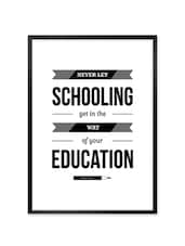 """ Never Let … "" Mark Twain Quoted Framed  Poster - Lab No. 4 - The Quotography Department"