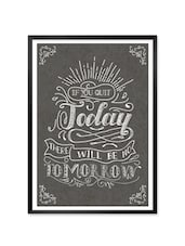 """"""" If You Quit … """" Quoted Framed Poster - Lab No. 4 - The Quotography Department"""