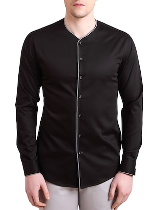 Alvin Kelly Black Cotton SHIRT