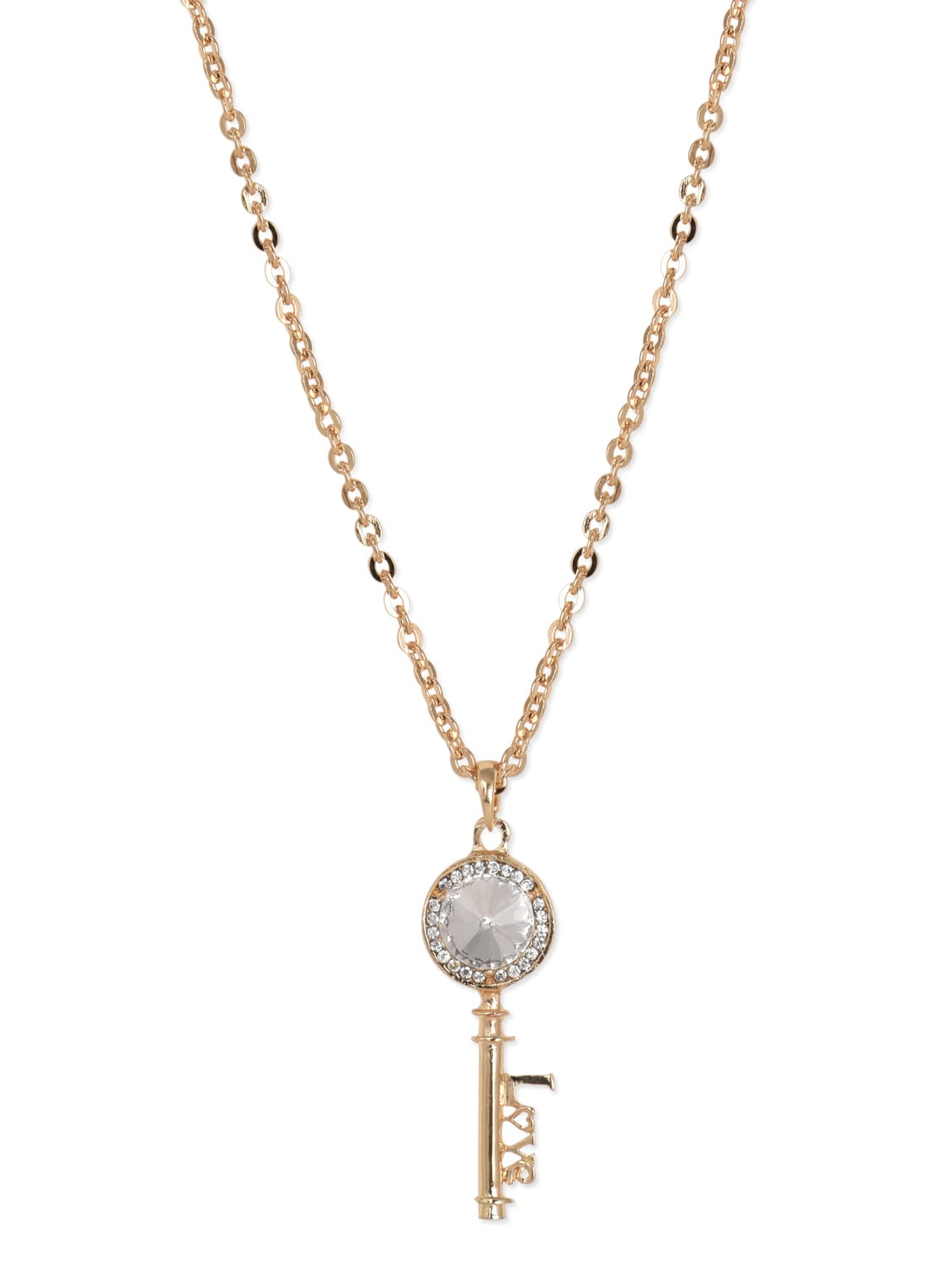 Stone Studded Metal Alloy Necklace - Blueberry