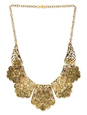gold crystal necklace -  online shopping for Necklaces