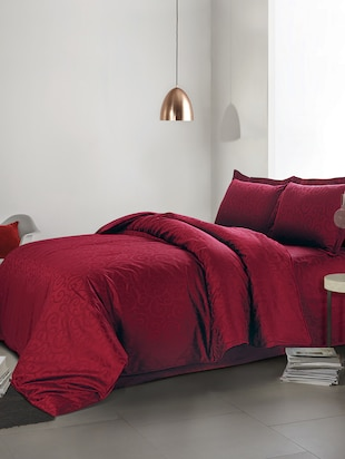 Da Vinci Dc Burgandy Double DUVET COVERS