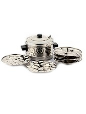 Induction Base Idly Cooker With 36 Mini Idly Plate Set of 12 Pcs -  online shopping for Cookware Sets