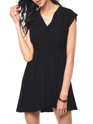 black aline dress