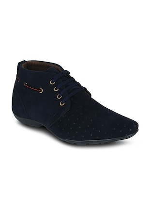 blue suede leather boots