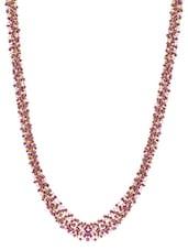 Gold Purple Metal Alloy & Beads Neckpieces - Art Mannia