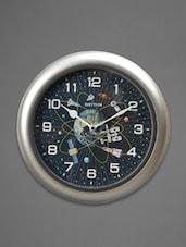 Silver Plastic Wall Clock - Rhythm - 1060695