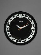 Black Plastic Wall Clock - Rhythm