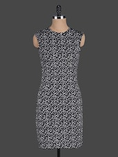 Black Polka Dots Printed Bodycon Dress - Eavan