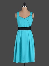 Turquoise Sleeveless Polyester Dress - Eavan