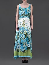 Floral Print Sleeveless Rayon Maxi Dress - Eavan