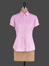 Pink Cotton Short-Sleeved Shirt - Eavan