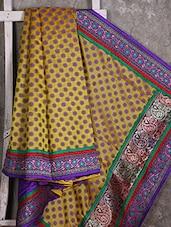 Floral Woven With Floral Border Cotton Saree - SURAVI