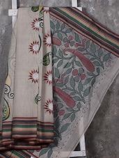 Paisley Hand Paint Cotton Saree - SURAVI