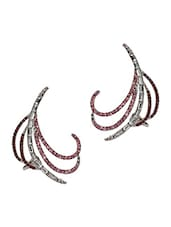 Sparkles Crystal Embellished Cuff Earrings - Crunchy Fashion