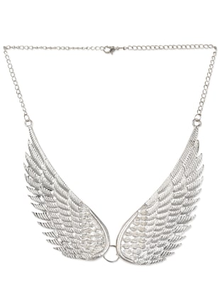 Wings to Sky Silver Necklace