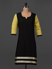 Quarter Lace Sleeve Cotton Kurta - Swanky