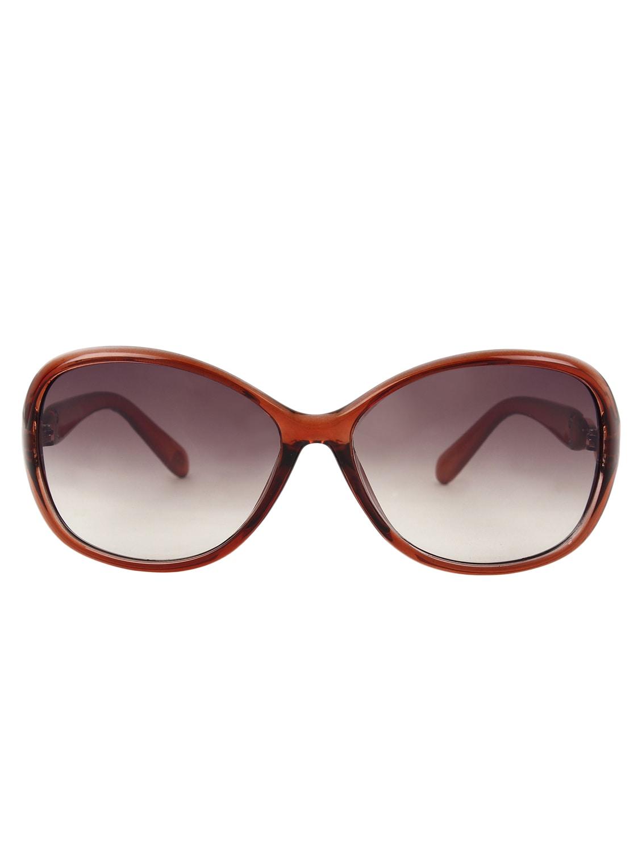 Zyaden Brown Oval Sunglasses For Women 109 - By