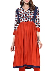 Multi Colored Rayon Regular Kurta - By