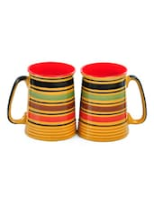 Mustard Ceramic Beer Mugs (Set Of 2) - Cultural Concepts
