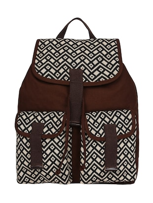 multicolor cotton backpack