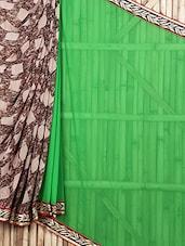 Abstract Printed Sheer Half & Half Saree - Siya