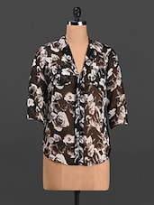 Floral Print Polyester Shirt - Thegudlook