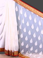 Brasso Work Embroidered Border Saree - Jashn