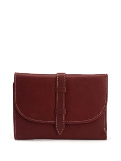 Compact Maroon Wallet - L'amore