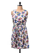 Floral Print Polyester Dress - CINDRELLA