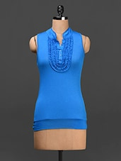 Ruffled Neck Top - Saadgi