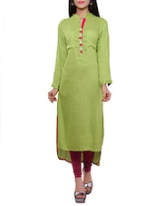 sea green rayon  kurta -  online shopping for kurtas