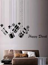 "Hanging Gifts "" Happy Diwali "" Wall Sticker - Creative Width Design"