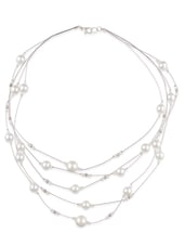 Fasherati Stringy Pearl Necklace For Women - By