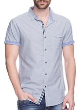 grey silk blend casual shirt -  online shopping for casual shirts