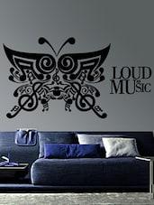""" Loud As Music "" Wall Sticker - Creative Width Design"