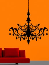 Chandelier Wall Sticker - Creative Width Design