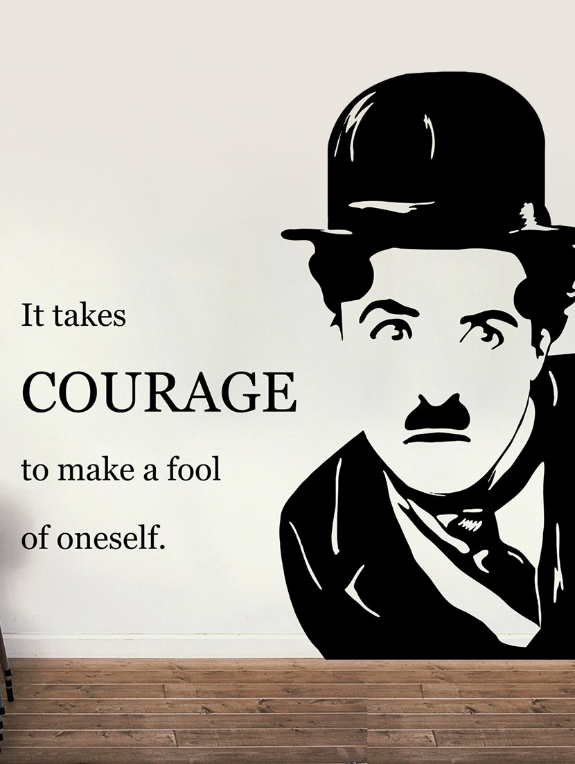""" It Takes … Oneself "" Charlie's Quote Wall Sticker - Creative Width Design"