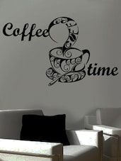 """ Coffee Time "" Wall Sticker - Creative Width Design"