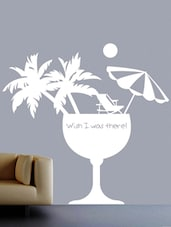 """Wish I Was There"" Vinyl Wall Sticker - Creative Width Design"