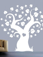 Spade Tree With Heart Within Vinyl Wall Sticker - Creative Width Design
