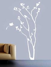 Floral Tree & Birds Vinyl Wall Sticker - Creative Width Design