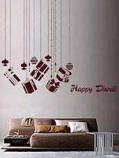 """Happy Diwali"" Gifts Vinyl Wall Sticker - Creative Width Design"