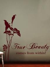 """True Beauty..."" Vinyl Wall Sticker - Creative Width Design"