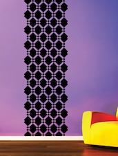 Black Square Diamonds Vinyl Wall Sticker - Creative Width Design