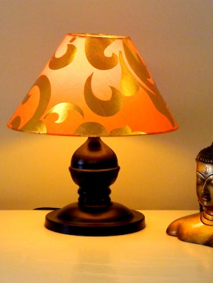 Multicolored Metal And Fabric Table Lamp