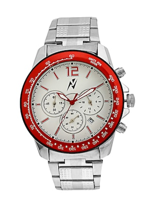 Yepme Men's Chronograph Watch - White/Silver